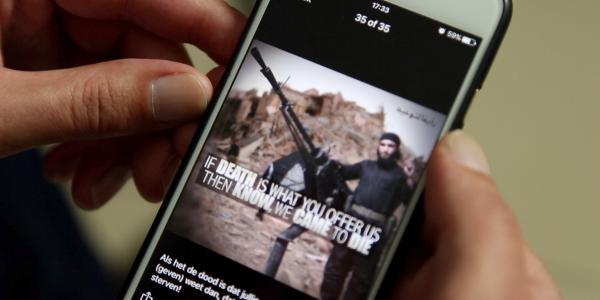 Chat Jihad - Pieter Van Ostaeyen showing IS Telegram channel, July 2017