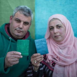 Palestina - Nablus Couple ID Portrait - 2018 Ⓒ Sam Asaert ・ WWW.SAMASAERT.COM ・ samasaert@gmail.com ・ +32.494.774.953 ・Copyright Designs & Patents Act 1988, moral rights asserted credit required. No part of this photo to be stored, reproduced, manipulated or transmitted to third parties by any means without prior written permission.